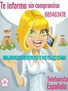 Telefonista, Maria Telefonista 685463478, con experiencia.